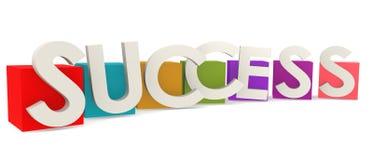 Kleurrijke kubussen met succeswoord Royalty-vrije Stock Afbeelding