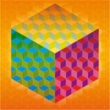 Kleurrijke kubussenachtergrond Royalty-vrije Stock Foto's