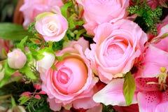 Kleurrijke kunstbloemen stock fotografie