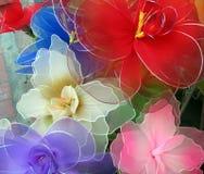Kleurrijke kunstbloemen Royalty-vrije Stock Afbeelding