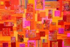 Kleurrijke kunstcollage royalty-vrije illustratie