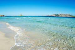 Kleurrijke kust in Stintino stock fotografie