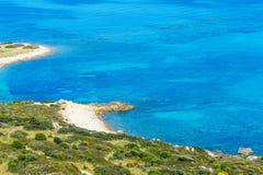 Kleurrijke kustlijn in Sardinige Royalty-vrije Stock Foto's