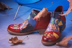 Kleurrijke laarzen Stock Fotografie