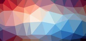 Kleurrijke lage veelhoekachtergrond Stock Afbeelding