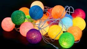Kleurrijke lampen  stock foto's