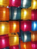 Kleurrijke lampen voor decoratie royalty-vrije stock foto's