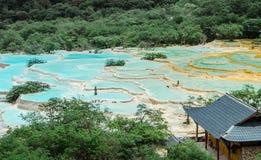 Kleurrijke lange pool van Huang Stock Afbeelding