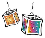 Kleurrijke lantaarns Stock Afbeeldingen
