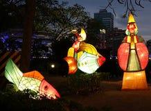 Kleurrijke Lantaarns bij het de Lantaarnfestival van 2014 in Taiwan Royalty-vrije Stock Foto