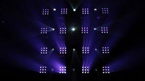 Kleurrijke laserlichten op het stadium stock footage