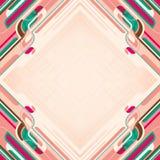 Kleurrijke lay-out met abstractie. Stock Afbeelding