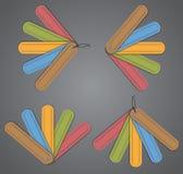 Kleurrijke leeretiketten Stock Afbeelding