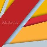 Kleurrijke lege achtergrond - Vectorontwerpconcept Royalty-vrije Stock Afbeelding