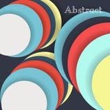 Kleurrijke lege achtergrond - Vectorontwerpconcept Stock Foto's