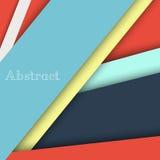 Kleurrijke lege achtergrond - Vectorontwerpconcept Royalty-vrije Stock Foto's
