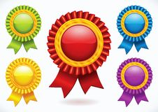Kleurrijke lege etiketten Royalty-vrije Stock Fotografie
