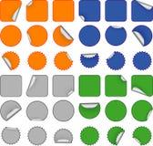 Kleurrijke lege stickers Stock Fotografie