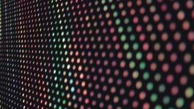 Kleurrijke LEIDENE lichte muur bij nachtclub, muziek videoachtergrond stock video