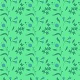 Kleurrijke leuke bloemenreeks met bladeren en bloemen naadloos patroon Stock Afbeelding