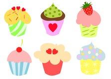 Kleurrijke leuke cupcakes Royalty-vrije Stock Fotografie