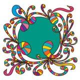 Kleurrijke leuke wervelingsvogel royalty-vrije illustratie