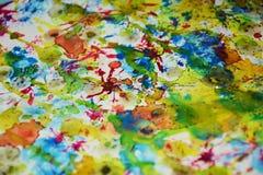 Kleurrijke levendige tinten, de creatieve achtergrond van de wasverf Royalty-vrije Stock Foto