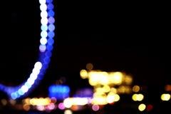 Kleurrijke lichte cirkels Stock Afbeelding