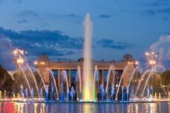 Kleurrijke lichte fontein Stock Foto