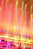 Kleurrijke lichten in motie stock afbeeldingen