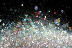 Kleurrijke lichtenachtergrond Stock Afbeelding