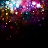 Kleurrijke lichtenachtergrond Royalty-vrije Stock Foto's