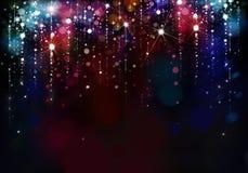 Kleurrijke lichtenachtergrond Royalty-vrije Stock Fotografie