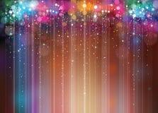 Kleurrijke lichtenachtergrond Stock Fotografie