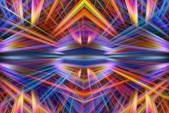 Kleurrijke lichtstralenachtergrond Stock Afbeelding