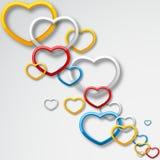 Kleurrijke Liefde Stock Foto's