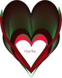 Kleurrijke liefdevorm royalty-vrije stock afbeelding