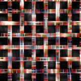 Kleurrijke lijnen op zwarte achtergrond en textuur Royalty-vrije Stock Fotografie