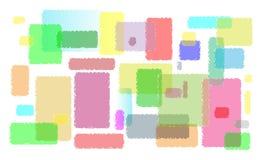 Kleurrijke lijnen van lege post-its Stock Foto's