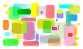 Kleurrijke lijnen van lege post-its Royalty-vrije Stock Foto's