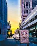 Kleurrijke Lincoln Center-zonsondergang royalty-vrije stock foto