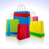 Kleurrijke lint het winkelen zak Stock Foto