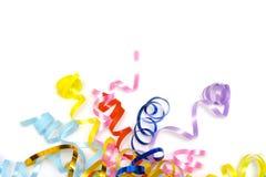 Kleurrijke linten stock afbeeldingen