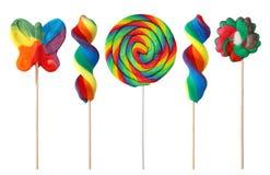 Kleurrijke lollys Stock Foto
