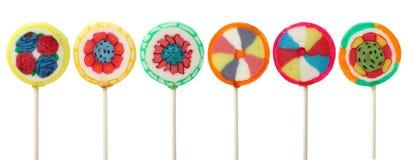 Kleurrijke lollys Stock Afbeelding