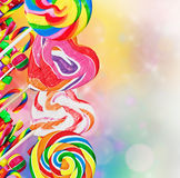 Kleurrijke lollys en snoepjes Royalty-vrije Stock Foto