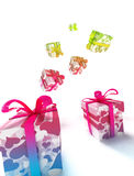 Kleurrijke lValentinePakketten Stock Foto