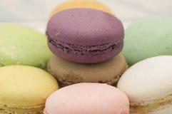 Kleurrijke macaron royalty-vrije stock afbeelding