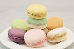 Kleurrijke macaron stock afbeelding