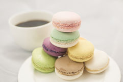 Kleurrijke macaron royalty-vrije stock foto's